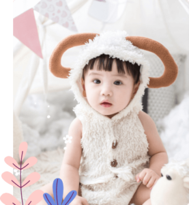 Baby in a sheep costume